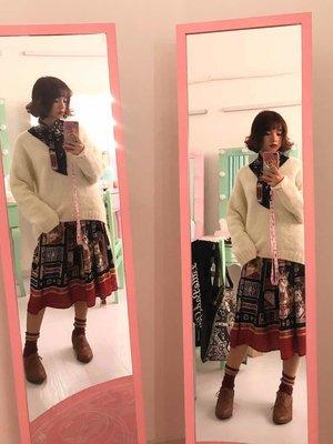 weibo@谢安然 裙子:勇者之旅sk 黑色
