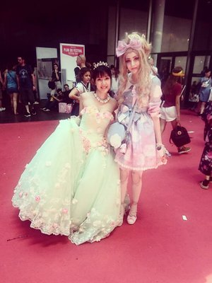 With Airly Momoco at Japan...