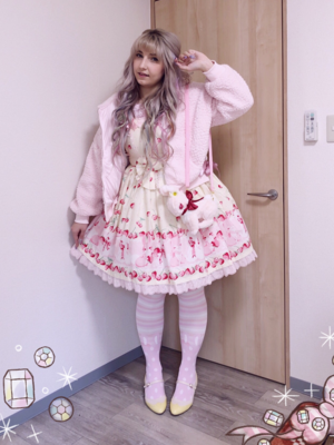 bububunの「Angelic pretty」をテーマにしたファッションです。(2018/02/08)