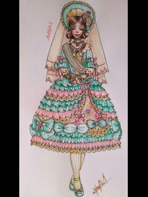 lolita fashion illustratio...