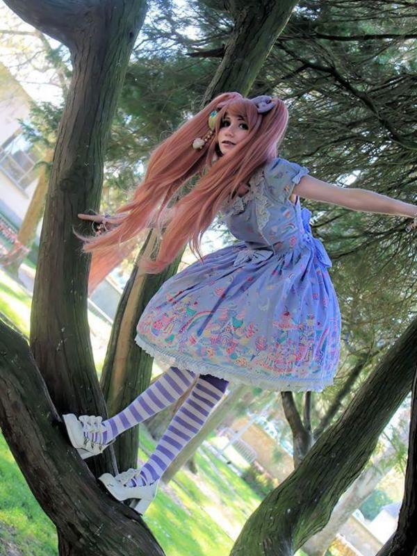 Mew Fairydollの「Sweet lolita」をテーマにしたファッションです。(2018/03/08)