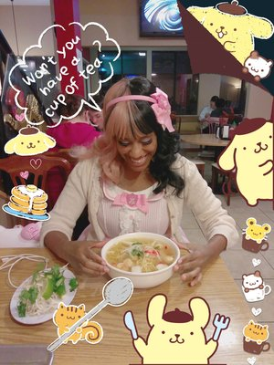 The Kawaii Nurseの「Pom Pom Purin」をテーマにしたファッションです。(2018/03/08)