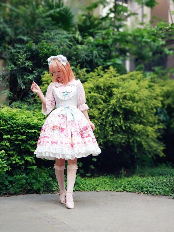 智障玄学少女の「Sweet lolita」をテーマにしたファッションです。(2018/04/10)