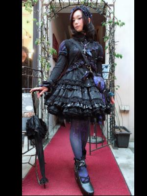 ゆずぽむの「Gothic Lolita」をテーマにしたファッションです。(2018/04/15)