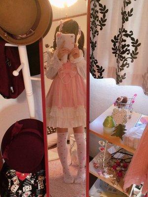 momo♡の「Angelic pretty」をテーマにしたファッションです。(2017/01/07)