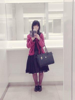 すみれの「アビエタージュ」をテーマにしたファッションです。(2017/03/21)