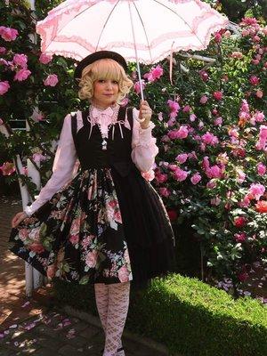 In the rose garden!