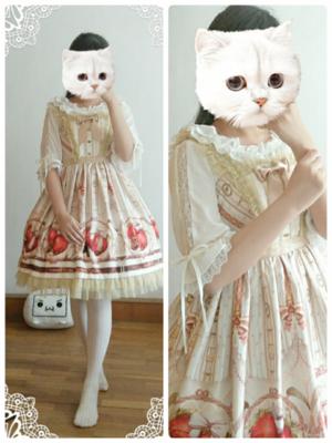 布子の「草莓可可」をテーマにしたファッションです。(2017/06/19)