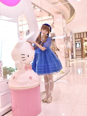 AP玻璃人形 青Op