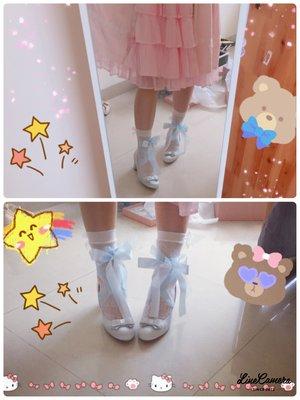 鞋子:my angel抱走家 绸缎鞋面,超级仙,显脚...