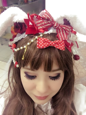 Bunny headdress 🐰🍓💕