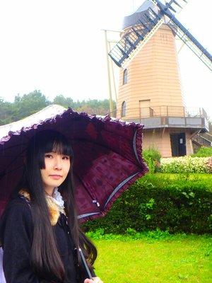 先日、雨の中公園に行ってきました。